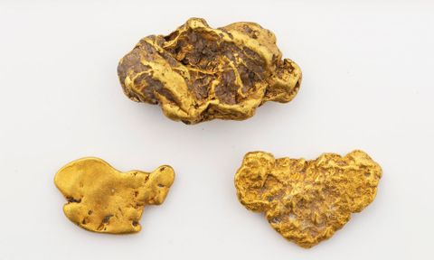 Gold Nuggets and flakes [alluvial gold]