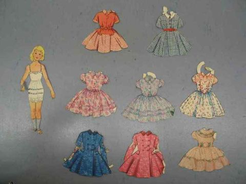 Paper doll and garments