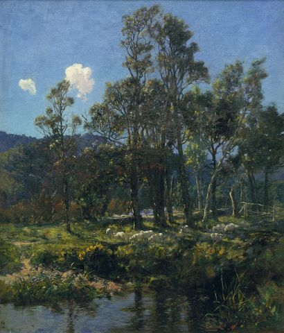 Nairn, James McLachlan; Changing Pastures, 1899, oil on canvas, 1936-0012-286.; cropped (image/jpeg)