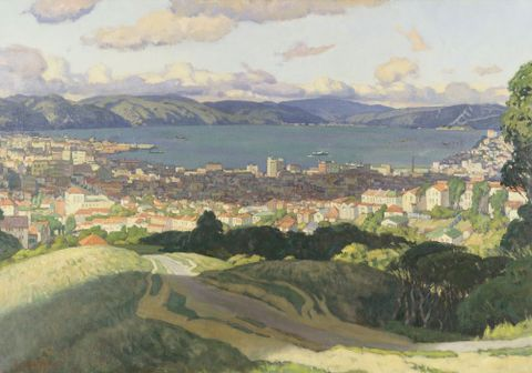 Nicoll, Archibald Frank; Wellington Harbour, 1936, 1936-0023-3; cropped (image/jpeg)