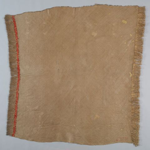 FE011716; 'ie t??(fine mat); 1800s; Samoan; Unknown ; view Verso; cropped (image/jpeg)