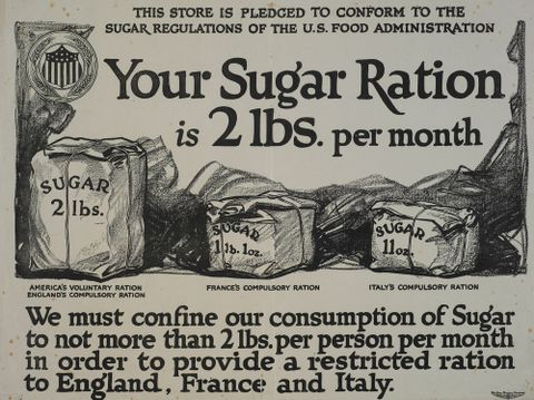 GH014078; Poster, 'Your Sugar Ration'; Circa 1917; The Carey Printing Company; Lithograph on paper; cropped (image/jpeg)