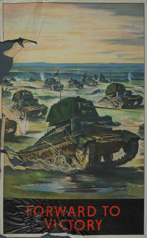 GH015071; Poster, 'Forward To Victory'; early 1940s; Unknown; cropped (image/jpeg)