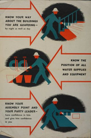 GH014923; Poster, 'Know your way'; circa 1942; Chromoworks, Ltd.; cropped (image/jpeg)