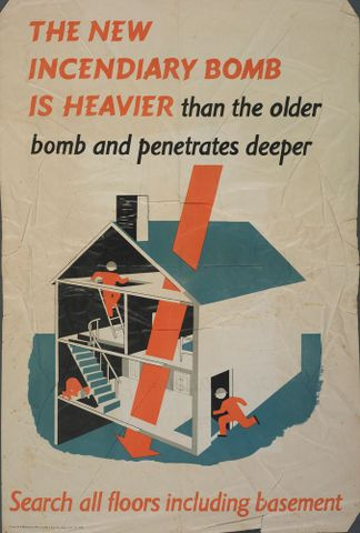 Poster, 'The New Incendiary Bomb Is Heavier'