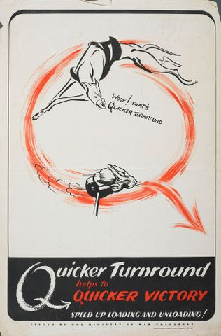 Poster, 'Woof! That's Quicker Turnround'