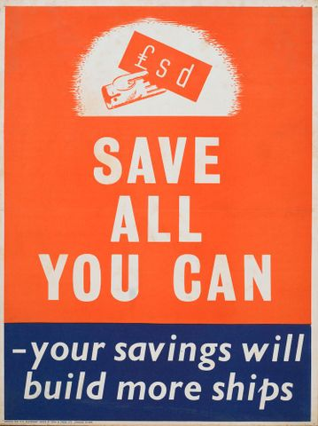 Poster, 'Save all you can'