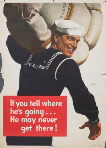 GH015178; Poster, 'If you tell where he's going';1943; Flater, John; cropped (image/jpeg)