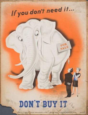 GH015325; Poster, 'If you don't need it...'; Early 1940s; McLaren; cropped (image/jpeg)