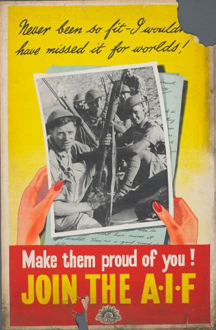 GH015465; Poster, 'Never been so fit'; Early 1940s; Unknown; cropped (image/jpeg)