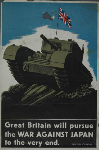 GH015701; Poster, 'Great Britain will pursue'; Circa 1944; J. Howitt & Son Ltd.; cropped (image/jpeg)