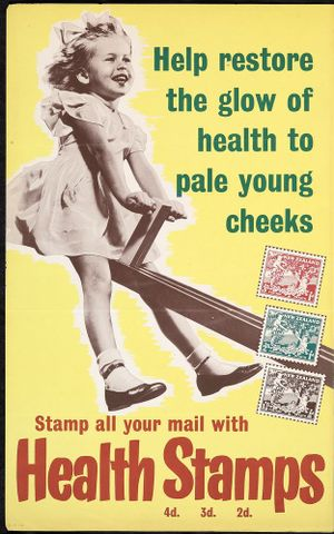 Poster, 'Help restore the glow of health to pale young cheeks'