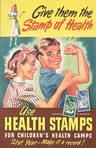 Poster, 'Give them the Stamp of Health'