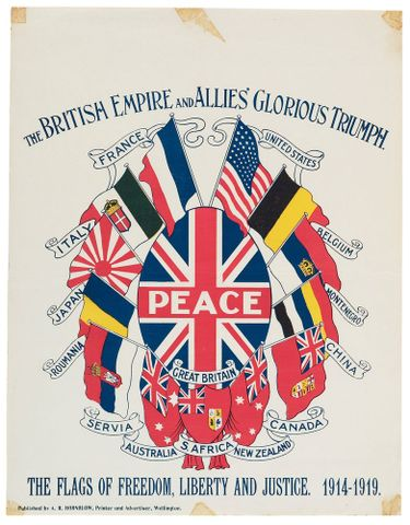 Allies' victory poster, World War I